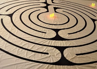 Labyrinth with candles 3